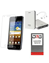 DMG Premium Shatter Proof Tempered Glass Ultra Clear Screen Protector for MICROMAX TAB P666 + 7800 mAh Power Bank