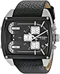 Diesel End-of-Season Tank Series Chronograph Black Dial Men Watch - DZ7326