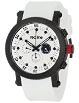 Red Line Watches, Men's Compressor White Dial Black IP Case White Silicone, Model 18101-02-BB-WHT-ST