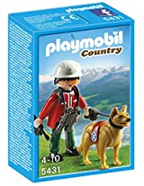 Playmobil Mountain Rescuer with Search Dog, Multi Color