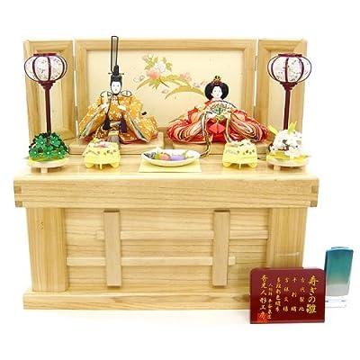 秀光作のひな人形:コンパクト収納 親王飾り