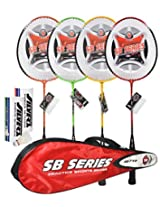 Silver SB 719 Badminton Combo (7 Pieces)