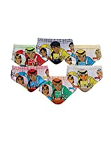 Red Rose Boys Cotton Briefs (Pack of 6)