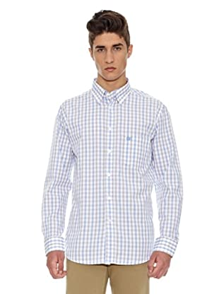 Carrera Jeans Camisa Print (Blanco / Azul)