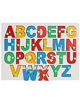 Little Genius - Wooden English Alphabet Uppercase With Knob