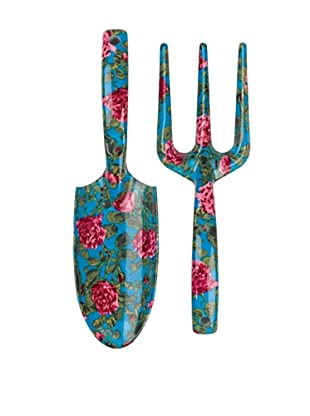 Victoria & Albert Garden Tool Set with Pink & Blue Roses