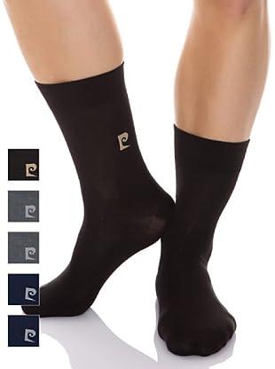 Pierre Cardin Pack 6 Pares Calcetines Logotipo (Marino / Gris claro / Antracita)