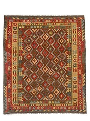 eCarpet Gallery One-of-a-Kind Kashkoli Kilim Rug, Copper/Yellow, 8' x 9' 7