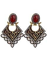 Agarwal Bentex Gold Plated Designer Meena Earring For Women