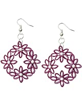 Designer's Collection Paper Quilling Ear Rings Festive Collection for Women-DSERF004