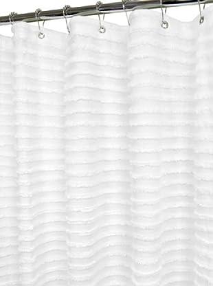 Park B.Smith Retro Stripe Shower Curtain (White)