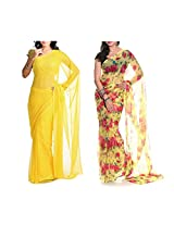 MemSahiba Women Semi-Chiffon Saree set of 2 (MS-1048-652)