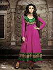 Fabboom Karishma Kapoor Pink Long Embroidered Anarkali Suit