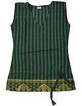 H2A2 Hand loom kurta (Green)