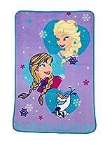 Disney Frozen Magical Sisters Coral Fleece Blanket, Purple/Blue