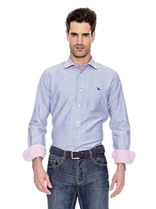 Toro Camisa Tejido Oxford (Azul)