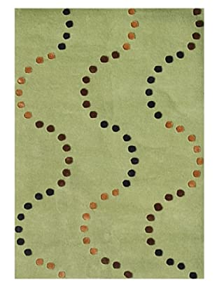 Horizon Rugs New Zealand Wool Rug (Green/Copper/Brown)