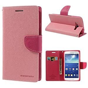 Mercury Samsung Galaxy Note 2 N7100 Leadher Wallet Flip Case Cover Pouch Dark Blue