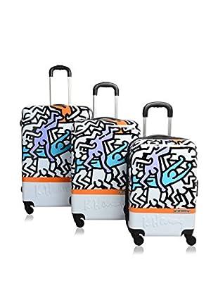 Keith Haring 3er Set Hartschalen Trolley
