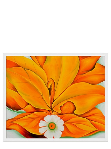 Georgia O'Keeffe - Yellow Hickory Leaves with Daisy