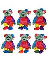 Ty Beanie Babies Frankenteddy Bears (Set Of 6 Different Colored Feet ) (8.5 Inch)