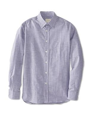Billy Reid Men's Orleans Woven Shirt (White/Blue)