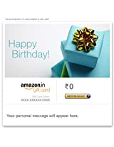 Happy Birthday (Blue Gift Box) - E-mail Amazon.in Gift Card