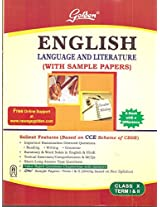 Golden English Language and Literature - 10 with Sample Papers Term 1 and 2