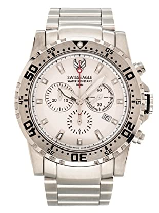 Swiss Eagle Reloj Cronógrafo Dive Fleet blanco