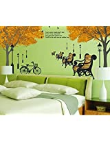 Syga Tree park streetlight wall stickers D_HUMG
