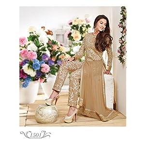Designer gohar khan bollywood golden salwar kameez latest party wear 1501