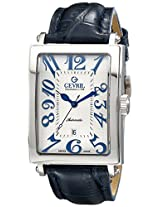 "Gevril Men's 5007A ""Avenue of America"" Stainless Steel Automatic Watch with Blue Leather Strap"