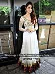 Bollywood Replica Tamanna Bhatia Georgette and Velvet Anarkali Suit In White Colour NC240