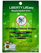 Liberty Lifeasy Mosquito Repellant Sticker (Pack of 24 Patches)