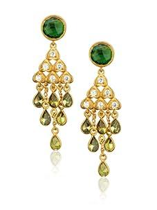 Zariin Green Bollywood Beauty Earrings