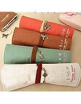 Pastorable Canvas Pen Bag Pencil Case, Brand New, Different Colors,set of 4 (Roll)