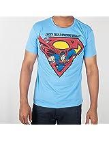 DC Comic Round Neck Blue T-Shirt