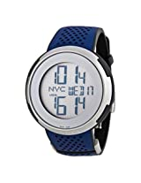 Gucci I-Gucci Digital Dial Blue Rubber Men's Watch - Gcya114105