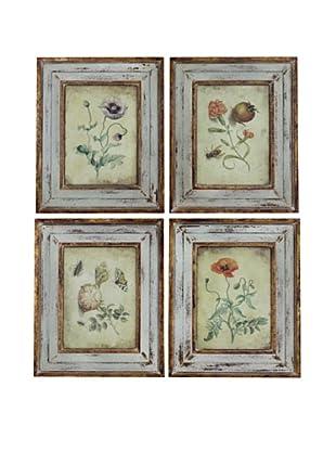 4-Piece Floral Art Set
