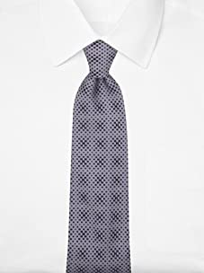 Hermès Men's Mini Logo Tie (Gray/Black)