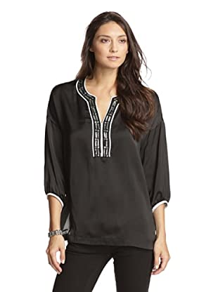 Paperwhite Women's Pop The Cork Bejeweled Tunic (Black)