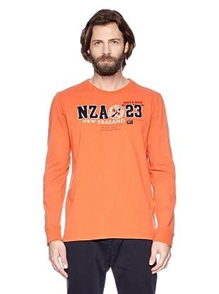 NZA New Zealand Auckland Camiseta Manga Larga Dáulide (Naranja)