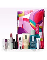 Clinique 8 Pcs Spring Skin Care & Makeup Gift Set With Tracy Reese Cosmetic Bag(A $85 Value)