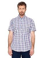 Cortefiel Camisa Cuadros (Rosa / Azul / Blanco)