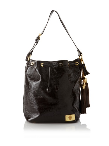 Just Cavalli Women's Gold Accented Drawstring Tote (Brown)