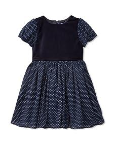 Velvet & Tweed Girl's Dot Tutu Dress (Navy)