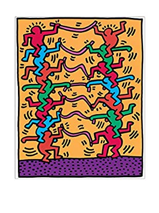 ArtopWeb Panel de Madera Haring Senza Titolo 1985 - 43X54 cm