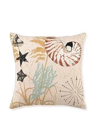 """Kathryn White Nautilus Pillow, 16"""" x 16"""""""