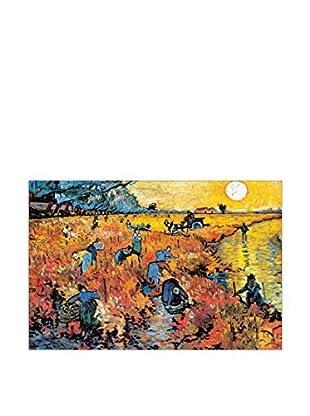 ArtopWeb Panel de Madera Van Gogh Die Roten Weinberge Von Arles 90x60 cm