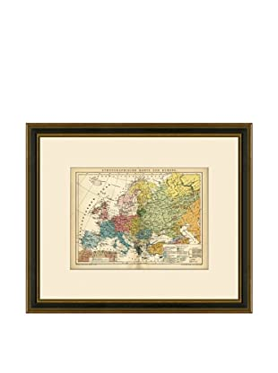 Antique Lithographic Map of Europe, 1894-1904